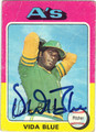 VIDA BLUE OAKLAND ATHLETICS AUTOGRAPHED VINTAGE BASEBALL CARD #12113L