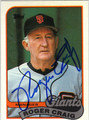 ROGER CRAIG SAN FRANCISCO GIANTS AUTOGRAPHED BASEBALL CARD #12113P