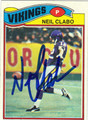 NEIL CLABO AUTOGRAPHED VINTAGE FOOTBALL CARD #121211B