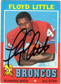 FLOYD LITTLE AUTOGRAPHED VINTAGE FOOTBALL CARD #121212F