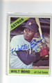 WALT BOND HOUSTON ASTROS AUTOGRAPHED VINTAGE BASEBALL CARD #121213i