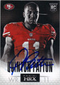 QUINTON PATTON SAN FRANCISCO 49ers AUTOGRAPHED ROOKIE FOOTBALL CARD #121213H