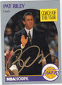 PAT RILEY AUTOGRAPHED BASKETBALL CARD #121311K