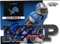 CALVIN JOHNSON DETROIT LIONS AUTOGRAPHED FOOTBALL CARD #121313A