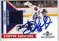 DEVAN DUBNYK AUTOGRAPHED PIECE OF THE GAME HOCKEY CARD #121312S