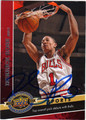 DERRICK ROSE CHICAGO BULLS AUTOGRAPHED BASKETBALL CARD #121313M