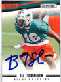 BJ CUNNINGHAM AUTOGRAPHED ROOKIE FOOTBALL CARD #121412B