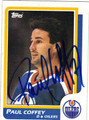 PAUL COFFEY AUTOGRAPHED VINTAGE HOCKEY CARD #121412C