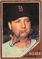 IKE DELOCK BOSTON RED SOX AUTOGRAPHED VINTAGE BASEBALL CARD #121413E