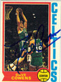DAVE COWENS BOSTON CELTICS AUTOGRAPHED VINTAGE BASKETBALL CARD #121413H