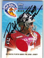 RICH GANNON AUTOGRAPHED PIECE OF THE GAME FOOTBALL CARD #121512N