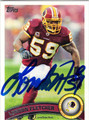LONDON FLETCHER SAN FRANCISCO 49ers AUTOGRAPHED FOOTBALL CARD #121513F
