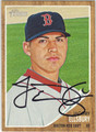 JACOBY ELLSBURY BOSTON RED SOX AUTOGRAPHED BASEBALL CARD #121513J