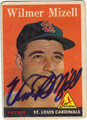 WILMER MIZELL ST LOUIS CARDINALS AUTOGRAPHED VINTAGE BASEBALL CARD #121513K