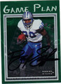 BARRY SANDERS DETROIT LIONS AUTOGRAPHED & NUMBERED FOOTBALL CARD #121513L