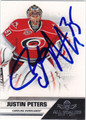 JUSTIN PETERS AUTOGRAPHED HOCKEY CARD #121612B