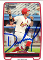 DAVID MEDINA AUTOGRAPHED ROOKIE BASEBALL CARD #121612Q