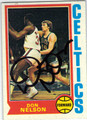 DON NELSON BOSTON CELTICS AUTOGRAPHED VINTAGE BASKETBALL CARD #121613D