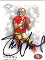 STEVE YOUNG AUTOGRAPHED FOOTBALL CARD #121712i