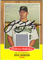 JOSH JOHNSON AUTOGRAPHED PIECE OF THE GAME BASEBALL CARD #121712J