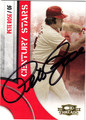 PETE ROSE CINCINNATI REDS AUTOGRAPHED BASEBALL CARD #121712N
