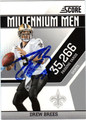 DREW BREES AUTOGRAPHED FOOTBALL CARD #121811F