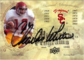 CHARLES WHITE AUTOGRAPHED FOOTBALL CARD #121811S