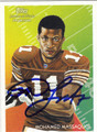 MOHAMED MASSAQUOI AUTOGRAPHED ROOKIE FOOTBALL CARD #121811M