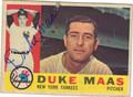 DUKE MAAS AUTOGRAPHED VINTAGE BASEBALL CARD #121812C