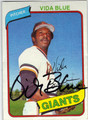VIDA BLUE SAN FRANCISCO GIANTS AUTOGRAPHED VINTAGE BASEBALL CARD #121813D