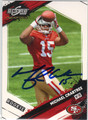 MICHAEL CRABTREE SAN FRANCISCO 49ers AUTOGRAPHED & NUMBERED ROOKIE FOOTBALL CARD #121913S