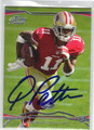 QUINTON PATTON SAN FRANCISCO 49ers AUTOGRAPHED ROOKIE FOOTBALL CARD #121913T
