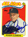 ROGER CLEMENS AUTOGRAPHED BASEBALL CARD #122012C