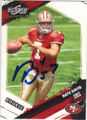 NATE DAVIS SAN FRANCISCO 49ers AUTOGRAPHED & NUMBERED ROOKIE FOOTBALL CARD #122013B