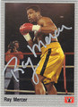 RAY MERCER AUTOGRAPHED BOXING CARD #122013J