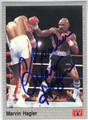 MARVIN HAGLER AUTOGRAPHED BOXING CARD #122013P