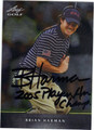 BRIAN HARMAN AUTOGRAPHED GOLF CARD #122212E