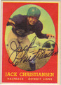 JACK CHRISTIANSEN AUTOGRAPHED VINTAGE FOOTBALL CARD #122212B