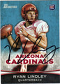 RYAN LINDLEY AUTOGRAPHED ROOKIE FOOTBALL CARD #122312J
