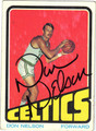DON NELSON AUTOGRAPHED VINTAGE BASKETBALL CARD #122412F