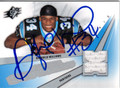 DeANGELO WILLIAMS AUTOGRAPHED PIECE OF THE GAME ROOKIE FOOTBALL CARD #122412H