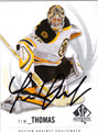 TIM THOMAS AUTOGRAPHED HOCKEY CARD #122512E
