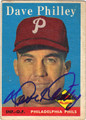 DAVE PHILLEY PHILADELPHIA PHILLIES AUTOGRAPHED VINTAGE BASEBALL CARD #122613O