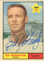 ED HOBAUGH WASHINGTON SENATORS AUTOGRAPHED VINTAGE ROOKIE BASEBALL CARD #122613G