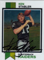 KEN STABLER OAKLAND RAIDERS AUTOGRAPHED FOOTBALL CARD #122613R