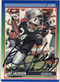BO JACKSON AUTOGRAPHED FOOTBALL CARD #122712A