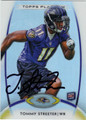 TOMMY STREETER AUTOGRAPHED ROOKIE FOOTBALL CARD #122812A