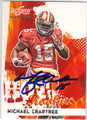 MICHAEL CRABTREE SAN FRANCISCO 49ers AUTOGRAPHED & NUMBERED ROOKIE FOOTBALL CARD #122913B