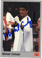MICHAEL CARBAJAL AUTOGRAPHED BOXING CARD #122913F
