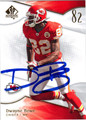DWAYNE BOWE AUTOGRAPHED FOOTBALL CARD #123010G